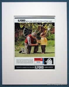 Ilford Colour Film Set Of 3 Original Adverts 1963 (ref AD1078)