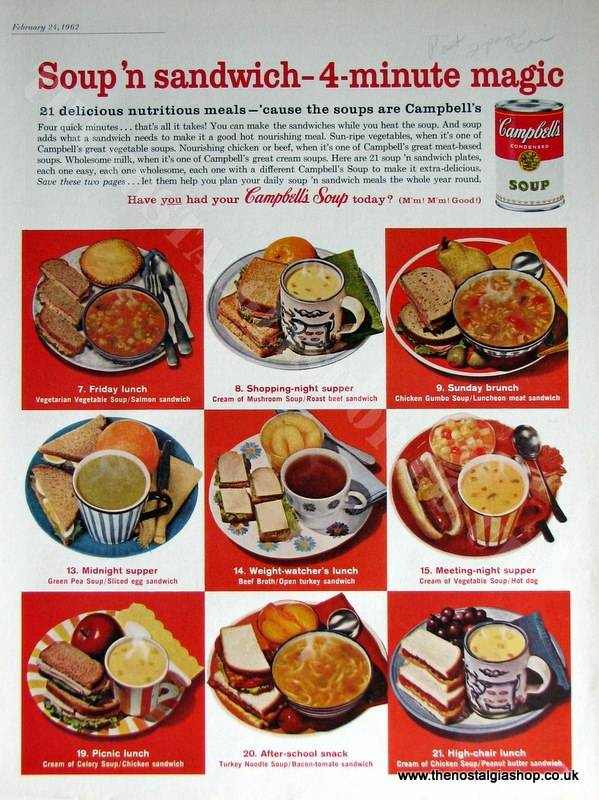 Campbell's Soup. Original Advert 1962 (ref AD4050)
