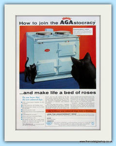 AGA Cooker. Original Advert 1957 (ref AD4757)