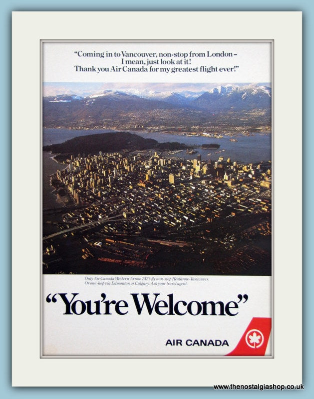 Air Canada Original Advert 1984 (ref AD2168)