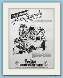 Beaulieu Autojumble Event 1978. Original Advert (ref AD2030)