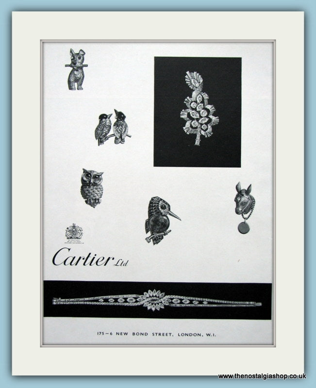 Cartier Bond Street London Original Advert 1961 (ref AD6261)