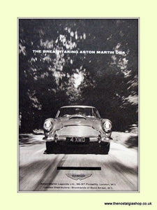 Aston Martin DB4 Original Advert 1961 (ref AD6705)