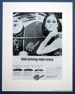 Alfa Romeo..Still Driving Men Crazy. Original advert 1967 (ref AD1422)