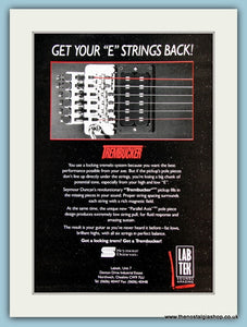 Trembucker Pickups. Original Advert 1990 (ref AD2209)