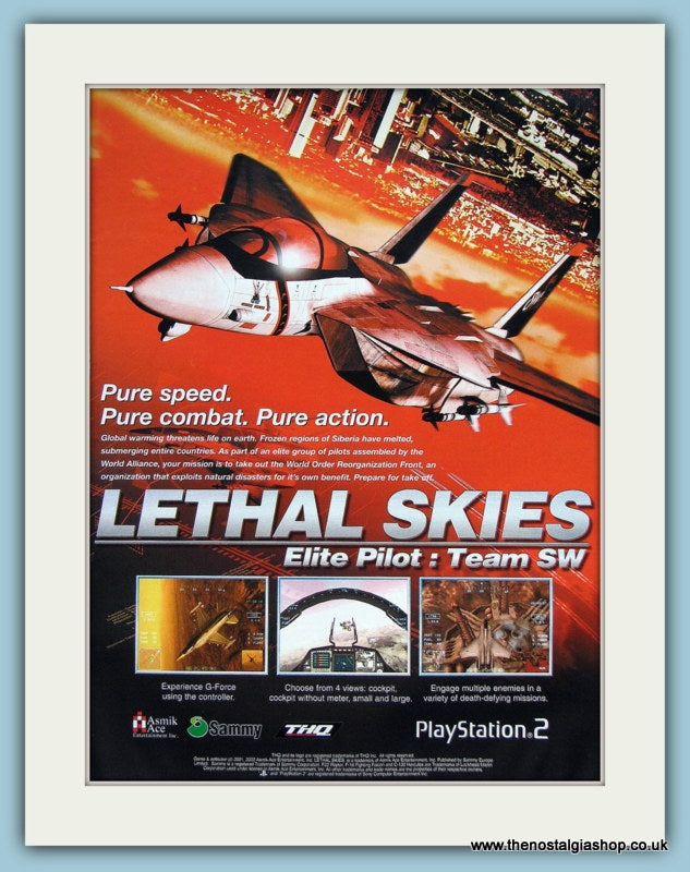 Lethal Skies Computer Game Original Advert 2002 (ref AD3999)