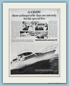 Moonraker Softrider 36 Yacht Original Advert 1971 (ref AD2333)