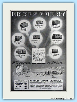 Montrose Caravans At Earls Court Original Advert 1953 (ref AD6343)