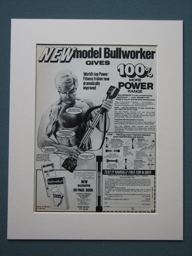 Bullworker 1980 Original advert (ref AD831)
