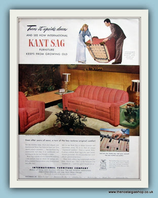 Kant Sag Furniture Original Advert 1947 (ref AD8170)