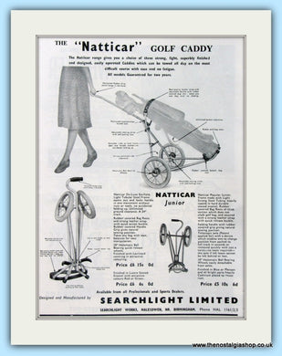 Natticar Golf Caddy. Original Advert 1960 (ref AD4958)