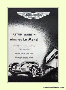 Aston Martin Le Mans Original Advert 1950 (ref AD6764)