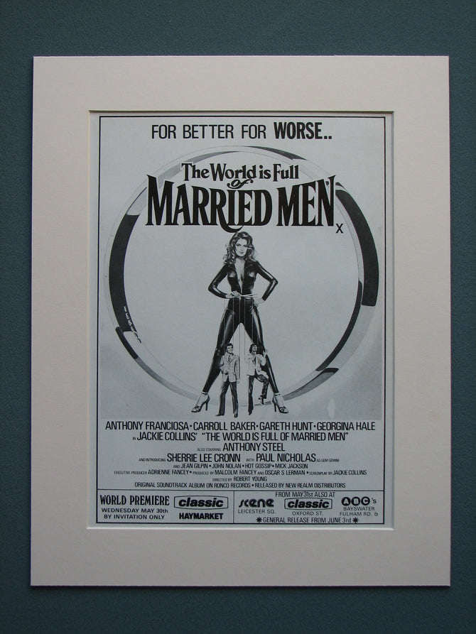 The World is Full of Married Men 1979 Original advert (ref AD556)