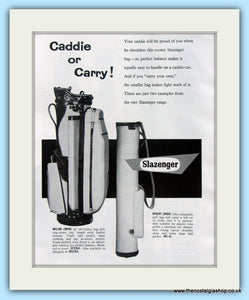 Slazenger Golf Bags. Original Advert 1961 (ref AD4970)