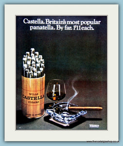 Wills Castella Cigars. Original Advert 1968 (ref AD6047)