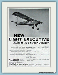 Helio H 395 Super Courier. Original Advert 1961 (ref AD4257)