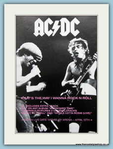 AC DC That's The Way I Wanna Rock N Roll 1988 Original Advert (ref AD3113)