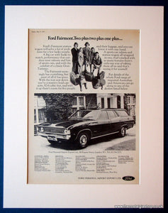 Ford Fairmount Station Wagon. Original advert 1973 (ref AD1125)