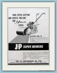 J.P Super Mowers. Original Advert 1961 (ref AD4632)