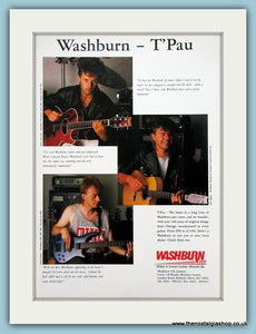 Washburn Guitars - T'Pau Original Advert 1989 (ref AD2714)