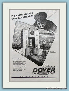 Dover Harbour Original Advert 1955 (ref AD2315)