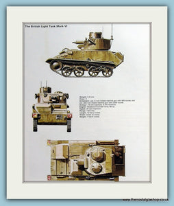 British Light Tank Mark VI. Print (ref PR477)