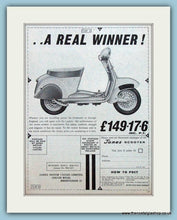 Load image into Gallery viewer, James Scooters, 1961 Double Original Advert (ref AD4082)