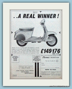 James Scooters, 1961 Double Original Advert (ref AD4082)
