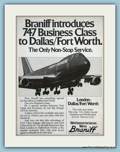 Braniff 747 Original Advert 1980 (ref AD2123)