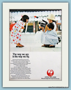 Japan Airlines Original Advert 1978 (ref AD2190)