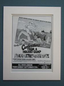 Confessions From A Holiday Camp 1977 Original advert (ref AD715)