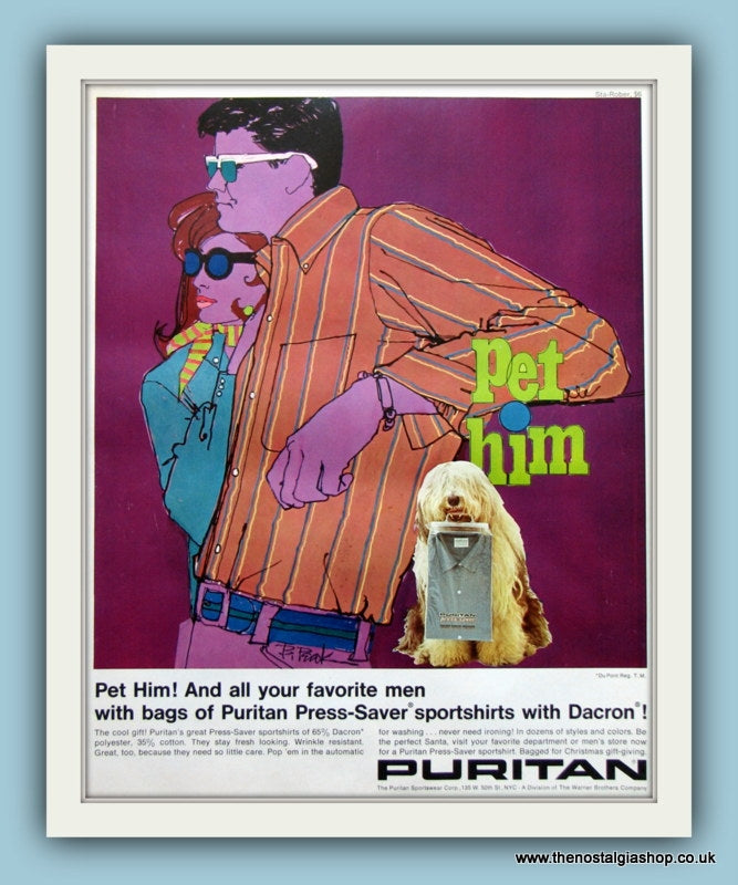Puritan Shirts. Original Advert 1967 (ref AD8182)