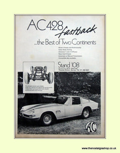 AC 428 Fastback 1970 Original Advert (ref AD6612)
