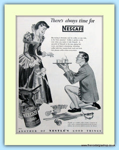 Nescafe Coffee. Original Advert 1953 (ref AD5020)