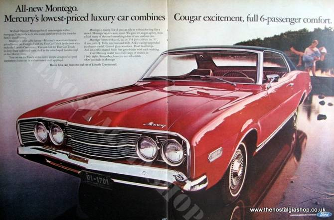 Ford Mercury Montego. Original Advert 1967 (Ref AD4058)