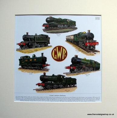 Great Western Railway. Mounted Print.