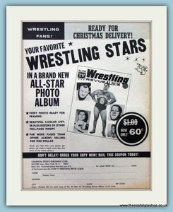 Wrestling Stars 1966 Original Advert. (ref AD5033)