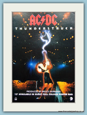 AC DC Thunderstruck 1991 Original Advert (ref AD3110)