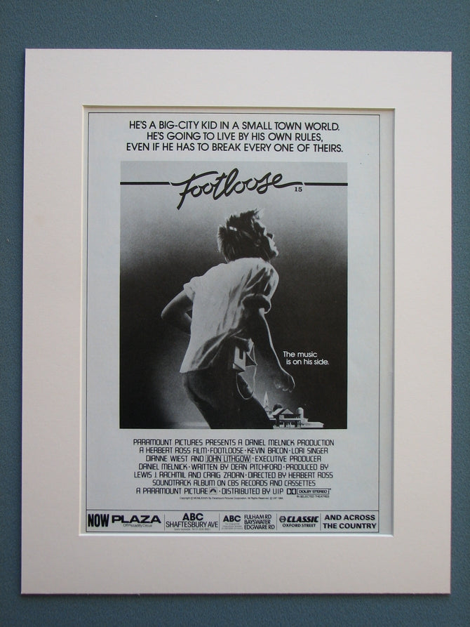 Footloose 1984 Original advert (ref AD690)