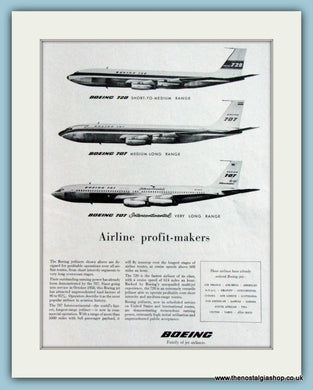 Boeing 720 & 707 Airline Original Advert 1959 (ref AD4250)