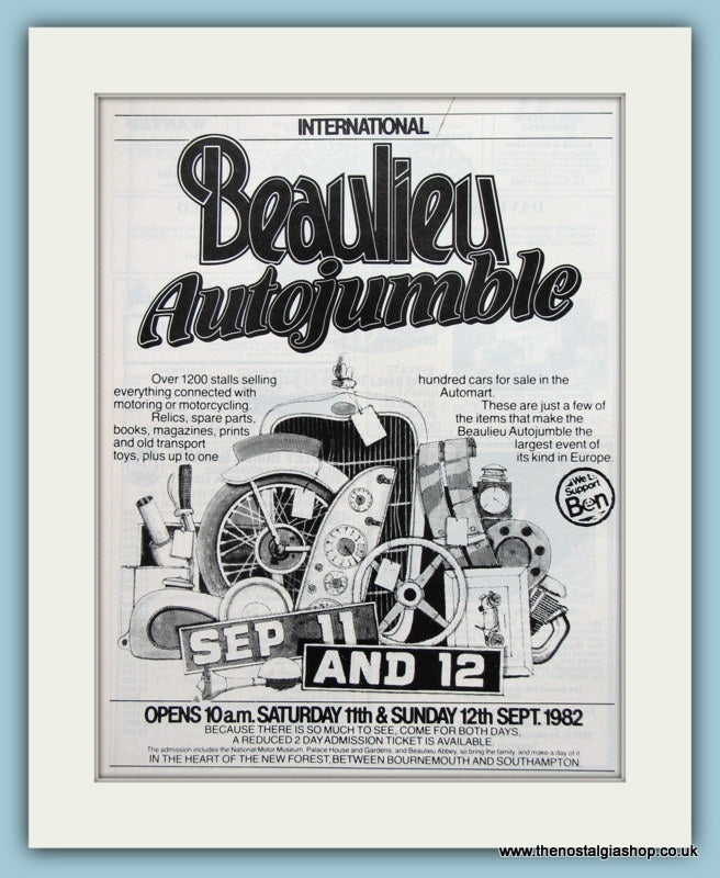 Beaulieu Autojumble Event 1982. Original Advert (ref AD2014)
