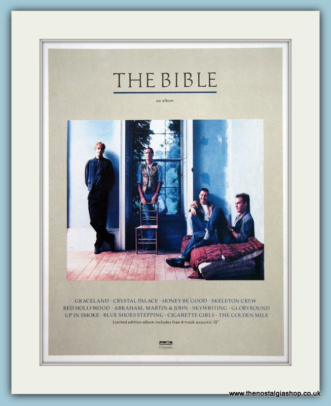 The Bible An Album 1989 Original Advert (ref AD3315)