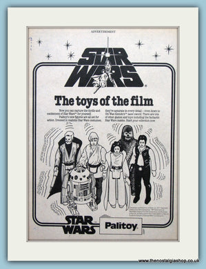 Star Wars Figures Palitoy Original Advert 1978 (ref AD6449)