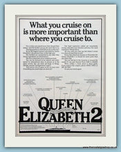 Load image into Gallery viewer, QE2 Cruise Ship Cunard. Set Of 2 Original Adverts 1979 (ref AD2312)
