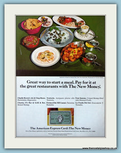 American Express Card Original Advert 1969 (ref AD4678)