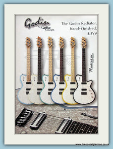 Godin Radiator Guitar. Original Advert 1999 (ref AD2354)