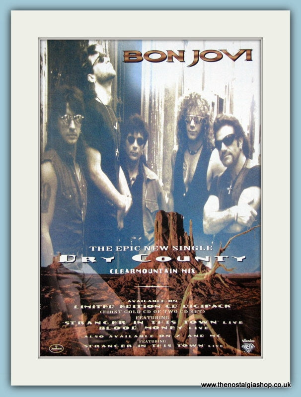 Bon Jovi Dry County 1994 Original Advert (ref AD3271)