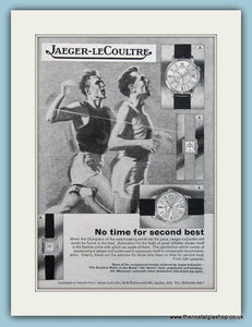 Jaeger-Le Coultre Watches. Original Advert 1964 (ref AD6102)