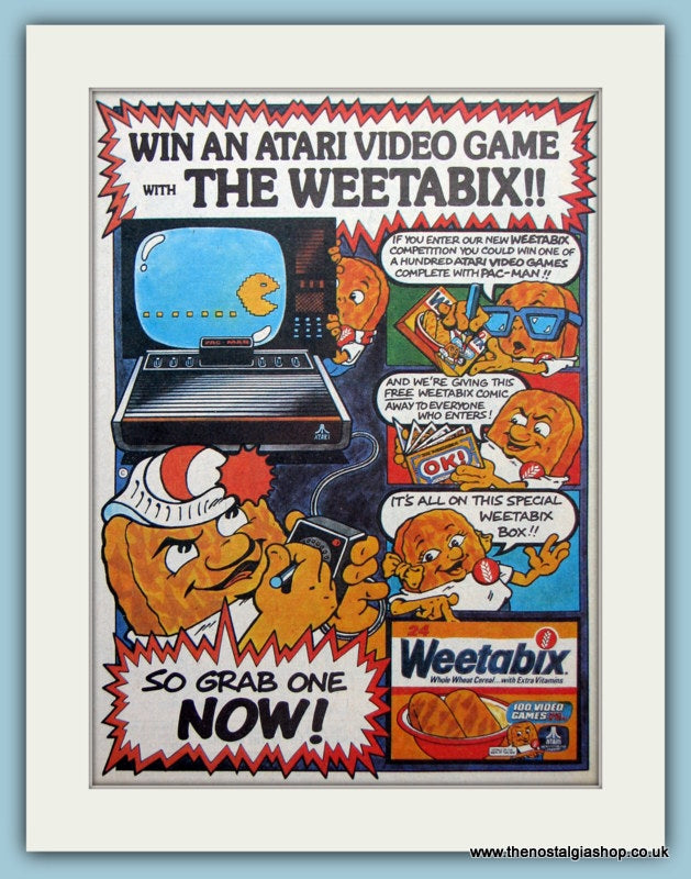 Atari Video Game Competition with Weetabix Original Advert 1983 (ref AD6431)