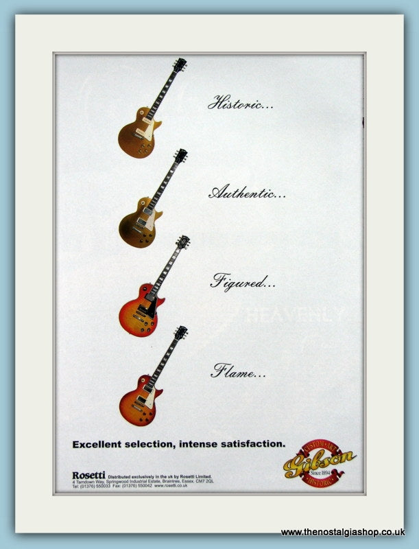 Gibson Guitars Rosetti Ltd Original Advert 2002 (ref AD2746)